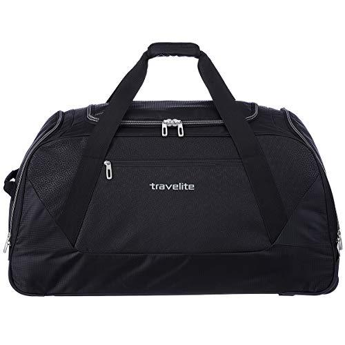 Travelite Kick Off Rollenreisetasche XL, Schwarz,...