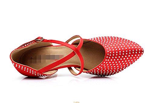 Femmes chaussures de danse latine / chaussures de danse professionnelle de formation / soft Red