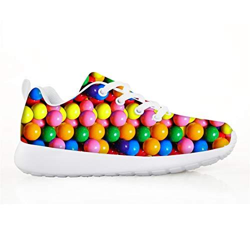 Schön Kind Laufschuhe Gym Freizeitschuhe Sneaker atmungsaktive Turnschuhe Wanderschuhe Ultra-Light Mesh Running Wanderschuhe Outdoorschuhe Bunte Süßigkeiten Süßigkeiten EU 32
