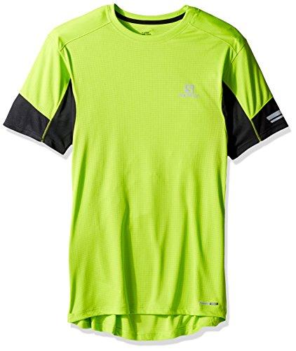 Salomon Agile SS M maglietta a maniche corte, uomo Verde (Lime Green)