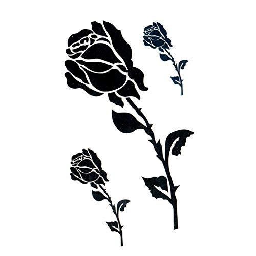 mporäre Tätowierung-Aufkleber, reizvoller wasserdichter dauernder Allergie-freier Blumen-Tätowierung-Aufkleber, Hochzeit, Fotografieren, Baden, Körper-Kunst ()