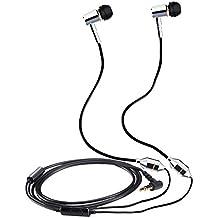 KINDEN Alumium metallo auricolari stereo deluxe radiazioni Free cuffia Tubo Aria brevetto earphoens con microfono per Apple Iphone, Ipad, Ipod, Samsung Galaxy, HTC, Sony, lettori MP3