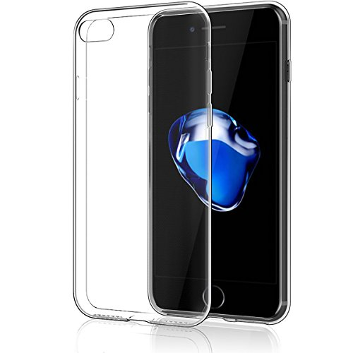 NEW'C Coque compatible avec iPhone 7, iPhone 8, [ Ultra Transparente Silicone en Gel TPU Souple ] Coque de Protection avec Absorption de Choc et Anti-Scratch