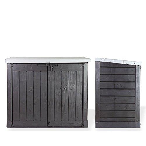 Koll Living Gartenbox Mülltonnenbox Gerätebox Schuppen für 2x 240 Liter Mülltonnen Gratis nur bei uns : inkl. Vorhängeschloss - 5