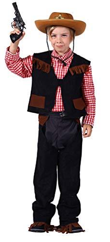 Karneval-Klamotten Cowboy Kostüm Kinder Jungen Western-Kostüm braun Cowboy-Weste inkl. Hose und Hemd Größe ()