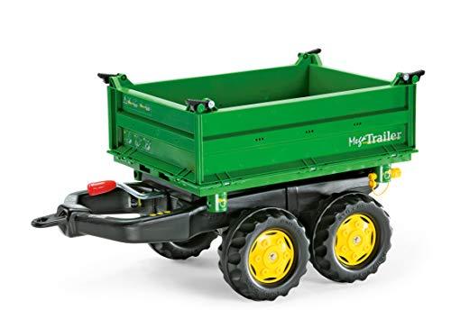 Rolly Toys Anhänger Rolly Toys rollyMega Trailer Anhänger (für Kinder von 2,5 bis 5 Jahren, Dreiseitenkipper, Heckkupplung, Zweiachsanhänger) 122004