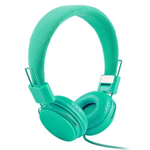 XdremYU Bluetooth Headset,Mikrofon EIN eufor Ohrhorer Funk Dual Rauschunterdrückung Candy Color Faltbarer HiFi-Stereo-Kopfhörer für kabelgebundene Steuerung mit Mikrofon Army Green