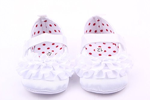Lukis Babyschuhe Mädchen Ballerina Seide Schuhe Lauflernschuhe Weiß