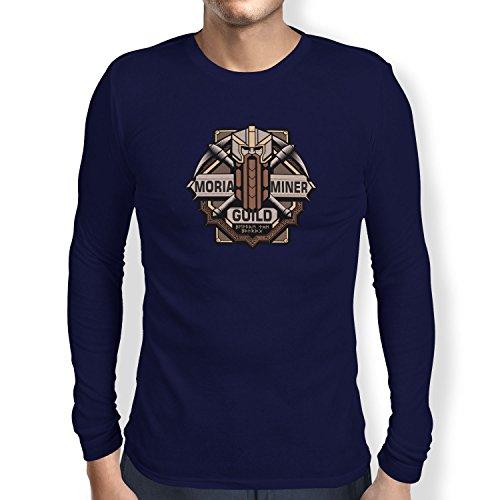 TEXLAB - Moria Miner Guild - Herren Langarm T-Shirt Navy