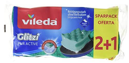Vileda Glitzi PurActive für empfindliche Oberflächen im 8er Vorratspack (8 x 3pack (2+1))