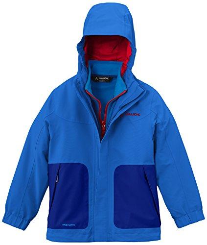 VAUDE Kinder Doppeljacke Campfire 3in1 Jacket IV, Hydro Blue, 134/140, 05381