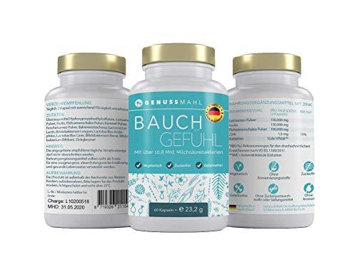 Bauchgefühl – Kapseln zum Aufbauen einer gesunden Darmflora – 60 Probiotika – Kulturen-Komplex mit Lactobacillus im Monatsvorrat