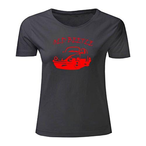 Art T-shirt, Maglietta Beetle, Donna Nero