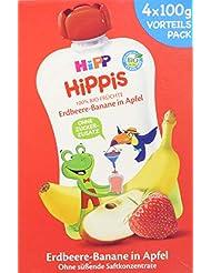 HiPP Ferdi Frosch Erdbeere-Banane in Apfel, 4er Pack (4 x 100 g)
