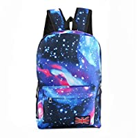 Vvciic Galaxy Starry Sky Pattern Unisex Travel Backpack Canvas School Bag Rucksack