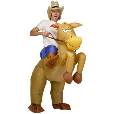 eSecure Aufblasbares Cowboy-Rodeokostüm Karnevalskostüm