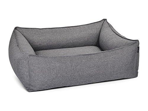 Hundebett, Hundesofa Dogstyle Dreamcollection Softline/ Polyester in grau, 4 Größen, wasserabweisend, schmutzresistent