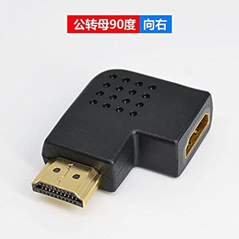 2×High Speed HDMI cable HDMI to HDMI adapter to the public to reform to the parent version 1.4 HDMI straight-through 90 degrees to 180 degrees spins go 90 degrees HDMI public go nuts