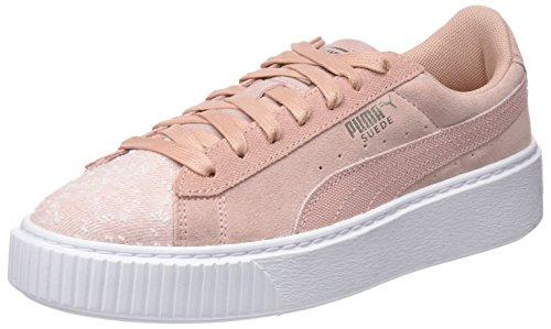 Amazon Puma Suede Platform Pebble Wn's, Zapatillas para Mujer, Beige (Peach Beige-Puma White), 39 EU