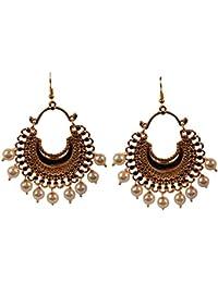 dfc9c647a3ee Piedra de toque de la India Bollywood Bahubali inspirado Chaand Baali luna  tema tapices de perlas