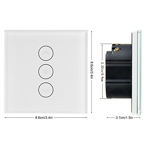 Smart Lichtschalter Dimmer, Teepao Wand Touch Control WiFi Dimmer ...