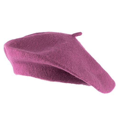 Hat To Socks HatToSocks Wool Blend French Beret for Men and Women in Solid Colours