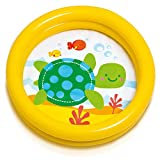 Warenhandel König Babypool gelb grün Pool Baby Planschbecken Kinderpool Badespaß Spielspaß mit...