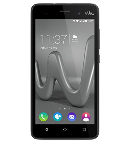 Wiko Lenny 3 Smartphone (12,7 cm (5 Zoll) IPS HD-Display, 16GB interner Speicher, Android 6 Marshmallow) Grau