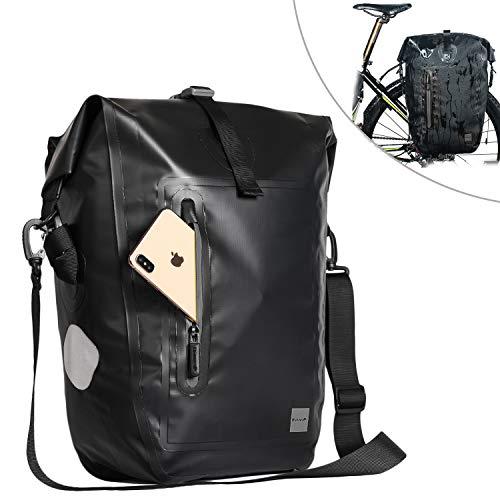 Selighting Gepäckträgertasche, Wasserdichte Fahrradtasche Hinterradtasche Gepäckträger Tasche Schwarz 25L (Schwarz)