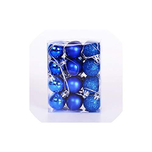 YearningH Christmas balls 24X 30mm Mini Weihnachtskugeln Kugeln aus Kunststoff Baum hängend, Mint Green -