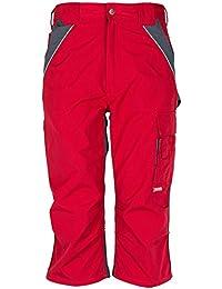 Planam 3 / 4 Hose Plaline, größe 4XL, rot / schiefer / mehrfarbig, 2557068