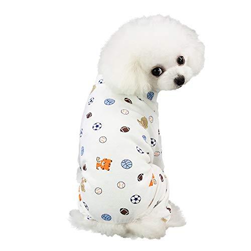 EUZeo Pet Frühling und Sommer Print Kleid Hund Katze Haustierbekleidung Kostüme Pet Kleidung Lässig Gedruckt Hundebekleidung Kleine Hundepullover Katze Kleidung T-Shirts Sweatshirts