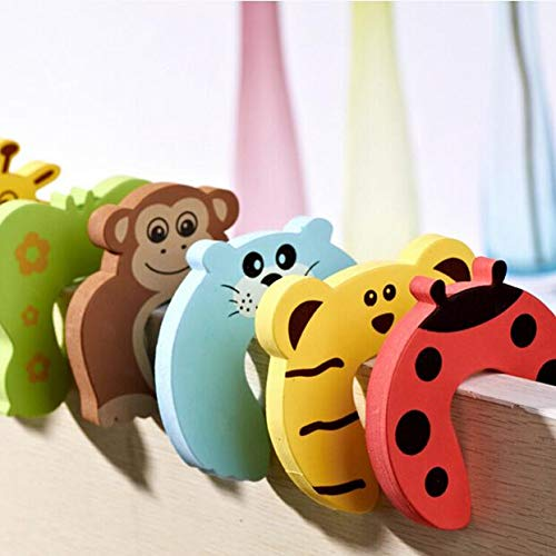 Lock Tap - Practical Cute 1pcs Child Kids Baby Cartoon Animal Jammers Stop Door Stopper Holder Lock Safety - Bronze Knob Mouse Protect Game Nursery Lock Intruder Protectors Tall Holder Devi