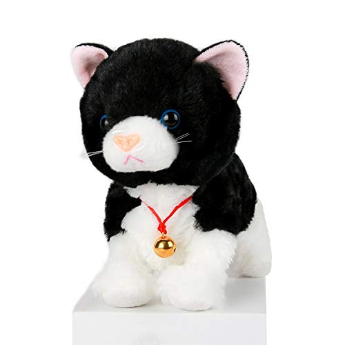 Smalody Kids Toys Novelty Sound Control Electronic Cat Interactive Electronic Pets Toys Robot Cat Stand Walk Electronic Toys For Children (black)