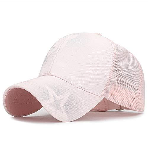 JIACHIHH Baseballmütze,Sommer Doodle Buchstaben Spray Baseball Cap Pink Sunscreen Mesh Cap Männer Frauen Mode Schirmmütze einstellbare Outdoor Freizeitaktivitäten hat