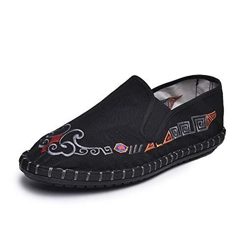 YOPAIYA Espadrilles,Rot Bestickt Schuhe Retro Schuhe Aus Baumwolle Von National Wind Frauen Und des Leinen Flach Casual Riegel Bettwäsche Damenschuhe, 39 -