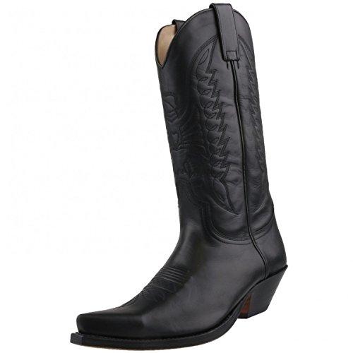 Sendra Boots Cowboystiefel 2073 Schwarz Schwarz