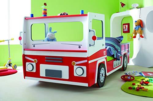 feuerwehrbett Demeyere 3224 Feuerwehrbett SOS 112, MDF, 90 x 190-200 cm, rot / weiß