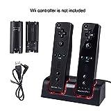 Wii Controller Ladegerät,TechKen Wii Spiele Wii Remote Fernbedienung Ladestation Docking Station...