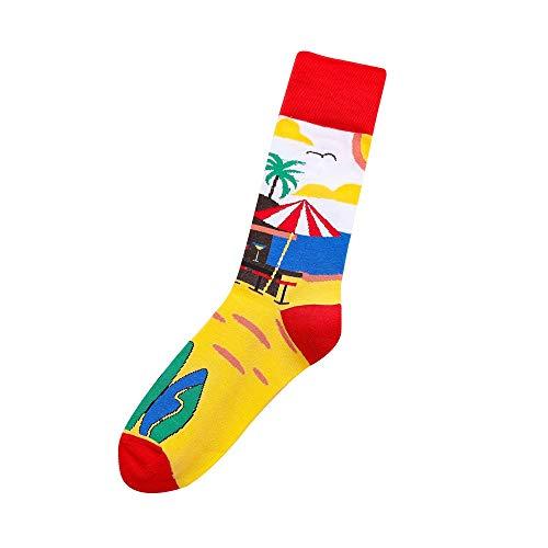 TUDUZ Herren Damen Baumwolle Atmungsaktive Socken Mode Mode Medium Strümpfe