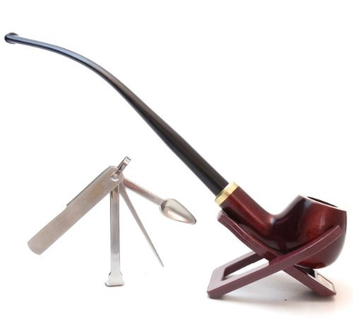 churchwarden-tobacco-mahogany-pipe-set-with-stand-3-in-1-tamper-tool-hand-made-by-by-mr-brog