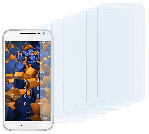 mumbi Schutzfolie kompatibel mit Lenovo Moto G4 Folie klar, Bildschirmschutzfolie (6x)