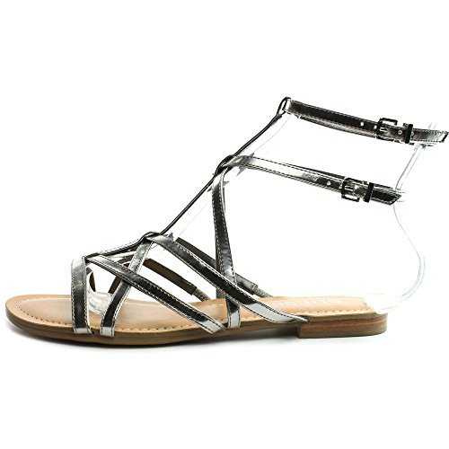 Guess Mannie Synthétique Sandales Gladiateur silver
