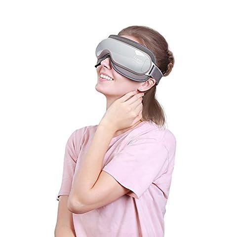Naipo Masseur des Yeux Appareil de Massage Oculaire avec Fonction de Chauffage Musique Compression d