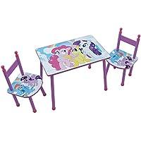 Fun House 712524My Little Pony Set Tisch mit zwei Stühlen für Kinder MDF rosa 60x 40x 44cm preisvergleich bei kinderzimmerdekopreise.eu