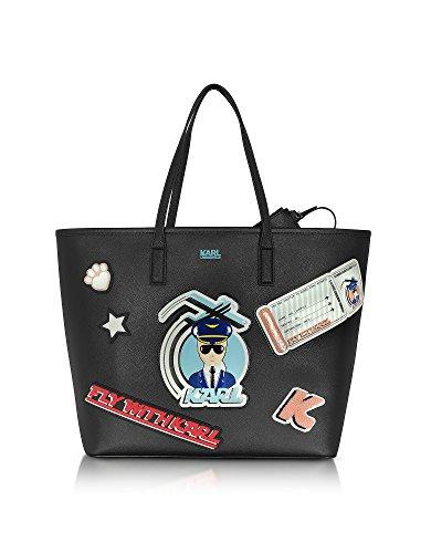 karl-lagerfeld-borsa-shopping-donna-71kw3066-pvc-nero