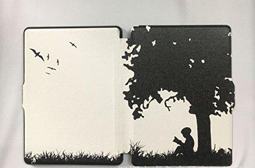 JIA Custodia in Pelle Abbinata Sottile eBook Paperwhite per Kindle,Lettura dei Bam,Taglia Unica