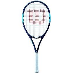 Wilson Raquette de Tennis , Monfils Open 103, Unisexe, pour Joueurs Débutants à Intermédiaires, Taille de Manche L1, Bleu/Navy, WRT30650U1