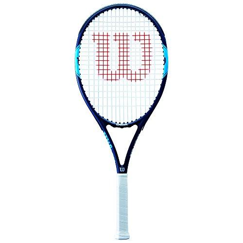Wilson Tennisschläger, Monfils Open 103, Unisex, Anfänger und Freizeitspieler, Griffstärke L3, Blau/Navy, - Damen Tennisschläger Wilson