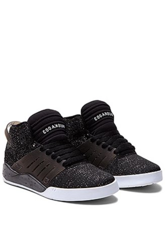 Supra , Baskets mode pour femme Multicolore bigarré - Black Glitter/White